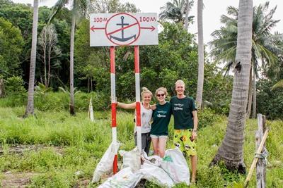 Projects Abroad vrijwilliger duikt in Cambodja om mee te helpen met onderzoek naar vissen