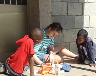 Werk met kinderen in Ethiopië