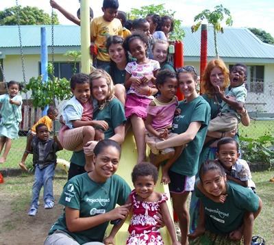 Werken met kinderen op Fiji