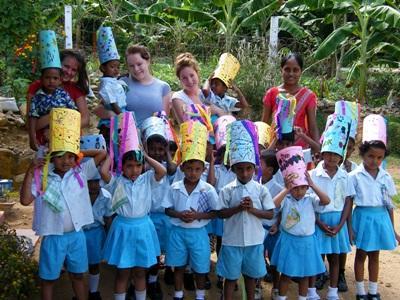 Werk met kinderen in Sri Lanka
