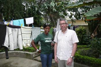 Danny Peeters, stagebegeleider op bezoek in Tanzania