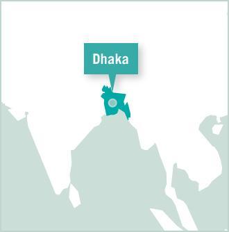 Geografische kaart van Bangladesh