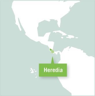 Kaart van Costa Rica