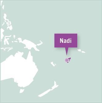 Kaart van Fiji