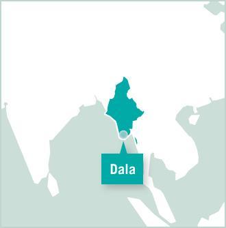 Kaart van Myanmar