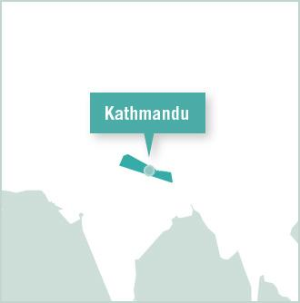 Kaart van Nepal