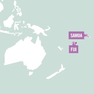 Bestemmingen van Projects Abroad voor vrijwilligerswerk in de Pacific