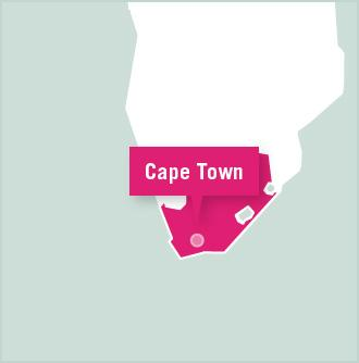 Kaart van Zuid Afrika
