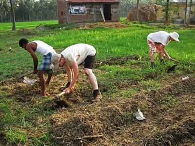 Stage lopen op een landbouw project in het buitenland