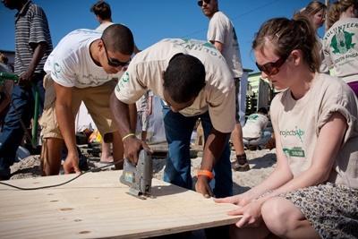 Vrijwilligerswerk op het bouw project in Zuid-Afrika