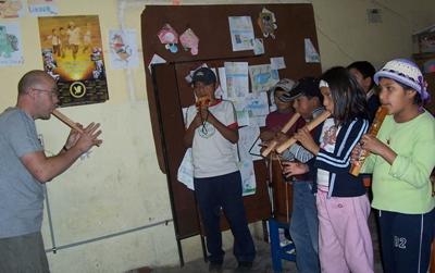 Vrijwilligerswerk in Bolivia op het muziek project