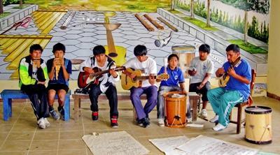 Vrijwilligerswerk muziek project in Bolivia