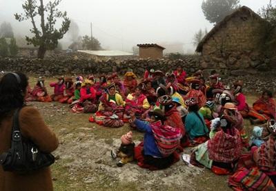 Voorlichting over gezonde voeding in Peru