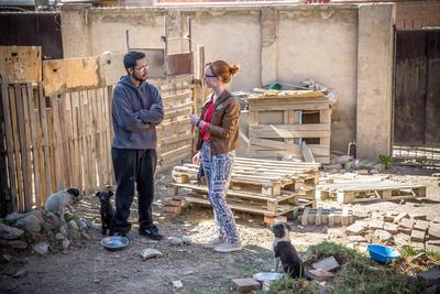 Tijdens het journalistiek project in Bolivia interview je de lokale bevolking voor je artikelen.
