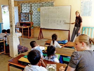 Vrijwilligerswerk lesgeef project in Cambodja