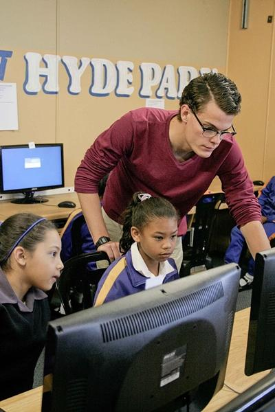 Vrijwilligerswerk computervaardigheden project in Zuid-Afrika