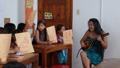 Geef muziekles in Ecuador