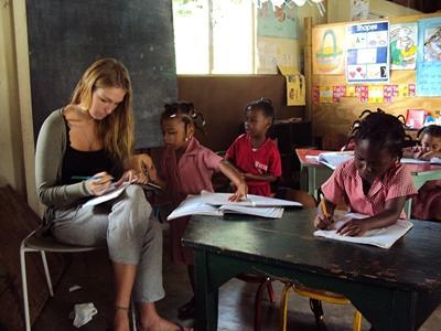 Vrijwilligerswerk lesgeef project in Jamaica
