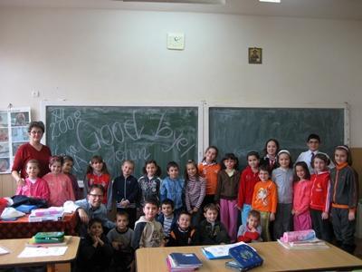Lesgeven aan kinderen in Roemenië
