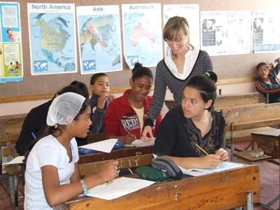 Lesgeven in Zuid-Afrika