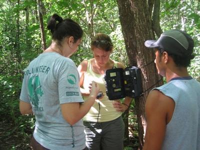 Onderzoek doen tijdens het natuurbehoud project
