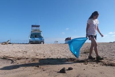 Organiseer schoonmaak acties in Ecuador