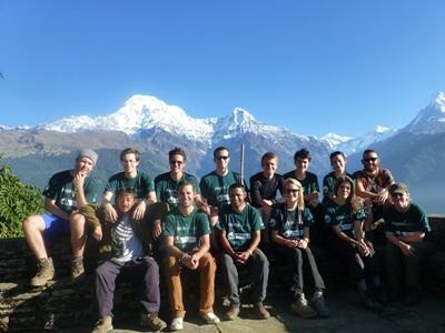 Natuurbehoud vrijwilligers in Nepal