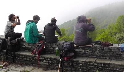 Uitzicht Himalaya gebergte Nepal