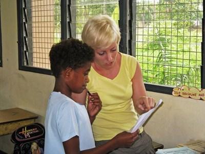 Logopedist als vrijwilliger in Fiji
