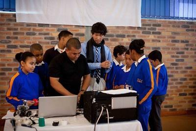Leraar computervaardigheden in Zuid-Afrika