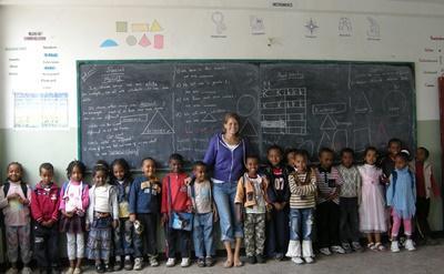 Lesgeven in wetenschap in Ethiopië