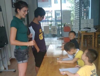 Knutselen met kinderen in China