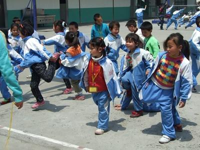 Ochtend gymnastiek in China