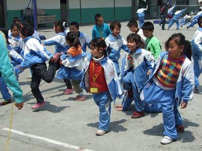 Ochtend gymnastiek in China