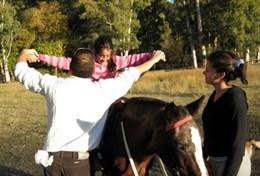 Als vrijwilliger kun je tijdens de therapiesessies de clienten helpen en werken met paarden in Argentinië.