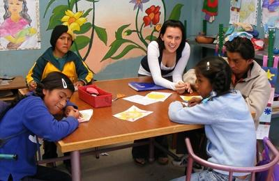 Werken met kinderen in Peru