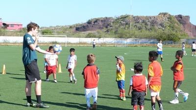 Community sport project in Ecuador