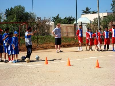 Vrijwilligerswerk community sport project Marokko