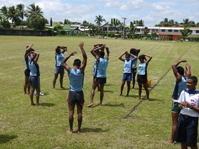 Vrijwilligerswerk sport project in Fiji