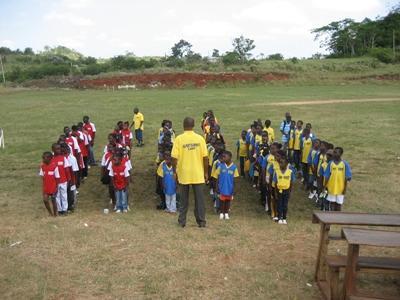 Sportles geven in Jamaica