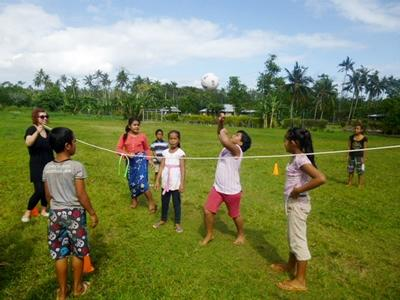 Vrijwilligerswerk gymles project in Samoa