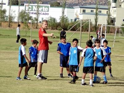 Voetbal project in Bolivia