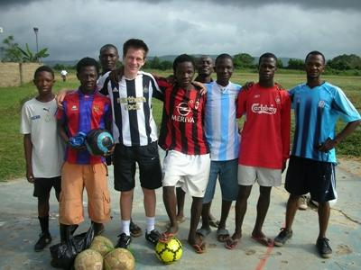 Voetbal project in Ghana