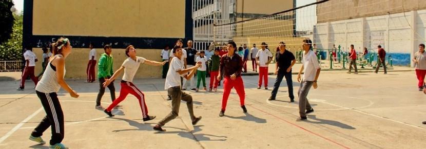 Vrijwilligerswerk sport project volleybal