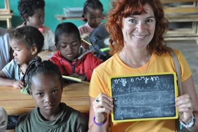 Projects Abroad vrijwilliger volgt een taalcursus Frans in Madagaskar