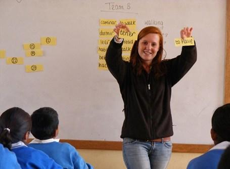 Derde stop wereldreis is Peru onderwijs