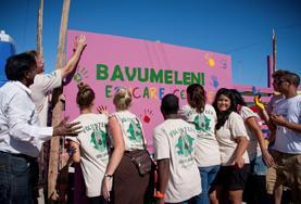 Werk samen op een bouw project in Kaapstad voor groepen vrijwilligers.