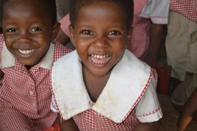 Kinderen op sociaal project